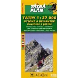 Magas Tátra térkép, Bélai Tátra turista térkép Tatraplan 1:27 000 Tatry - Vysoké a Belianske 2016
