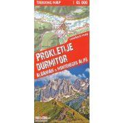 Durmitor térkép, Prokletije térkép TerraQuest 1:65 000