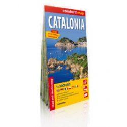 Katalónia térkép, Catalonia térkép Expressmap 1:300 000  2015