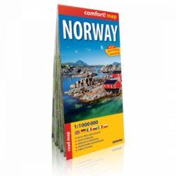 Norvégia autós térkép Expressmap fóliás 1:1 Mio