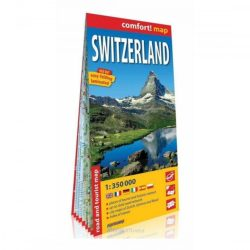 Svájc autós térkép laminált  1:350 000