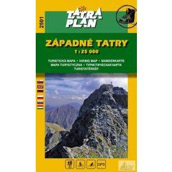 2501.  Nyugati Tátra turista térkép, Liptói havasok térkép Tatraplan 1:25 000