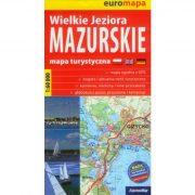Mazuri tó térkép ExpressMap 1:60 000 Mazuri-tó térkép Mazury Lakes Hiking Map hegymászó papírtérkép