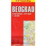 Belgrád térkép Intersistem Top Travel Map 1:20 000