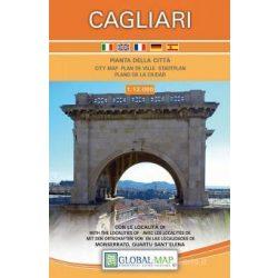 Cagliari térkép, Cagliari várostérkép LAC 1:12 000