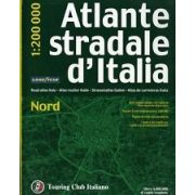 Közép-Olaszország atlasz Touring Club Italiano 1:200 000