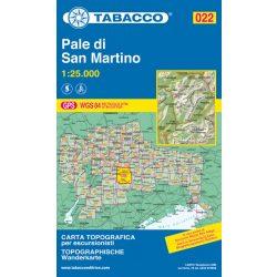 022. Pale di San Martino turista térkép Tabacco 1: 25 000  TAB 2522