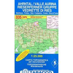 035. Valle Aurina turista térkép Tabacco 1: 25 000