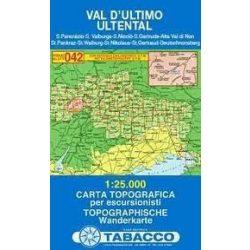 042. Val D'Ultimo / Ultental térkép, turista térkép Tabacco 1: 25 000