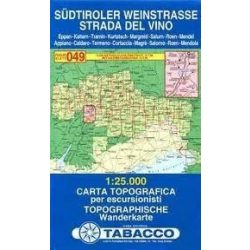 049. Strada Del Vino / Südtirolen Weinstrasse turista térkép Tabacco 1: 25 000