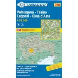 058. Adamello turista térkép Tabacco 1: 25 000