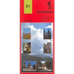 01. Medvednica turista térkép Smand 2012  1:25 000