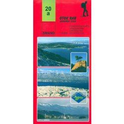 20a. Otok Rab turista térkép Smand 1: 25 000  2011