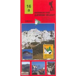 16a Sjeverni Velebit turista térkép észak Smand 1:30 000 2014