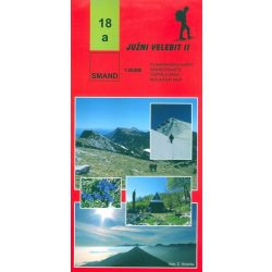 18a Juzni Velebit turista térkép Smand 1:30 000
