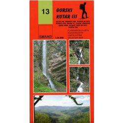 13. Gorski Kotar turista térkép Smand 1:30 000  2009
