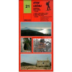21. Otok Losinj turista térkép - Losinj-sziget térkép  1:25000  2015