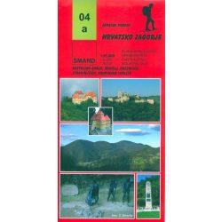 04a Hrvatsko Zagorje turista térkép Smand 1:25 000  2008