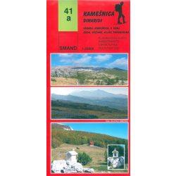 41a Kamesnica turista térkép  1:25000  2010