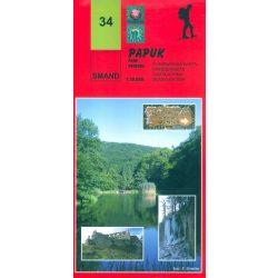 34. Papuk turista térkép Smand  1:30 000  2012