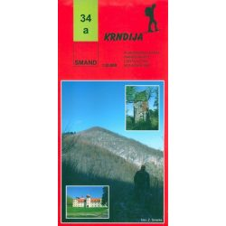 34a Papuk turista térkép Smand  1:30 000  2012