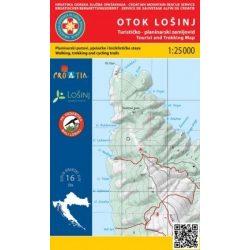 Otok Losinj turistatérkép Hrvatska Gorska 1:25 000  2015