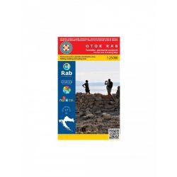 Otok Rab turistatérkép, Rab sziget turista térkép Hrvatska Gorska 1:25 000