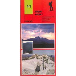 11. Gorski Kotar turista térkép Smand 2013 1:30 000