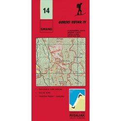 14. Gorski Kotar turista térkép Smand 1:30 000