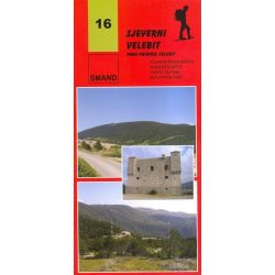 16 Sjeverni Velebit turista térkép észak Smand 1:30 000   2008