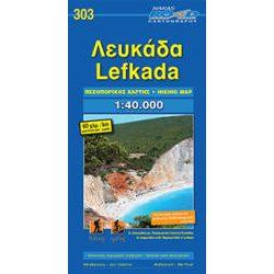 Lefkada térkép Road Cartography 1:40 000