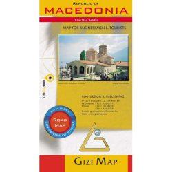 Macedonia autós térkép Gizi Map  1:250 000