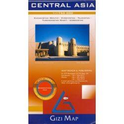 Central Asia domborzati térkép Gizi Map 1:1 750 000
