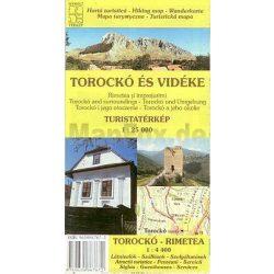 Torockó turistatérkép, Torockó és vidéke térkép Schwarcz 1:25 000