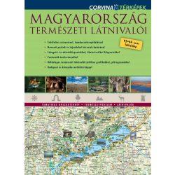 Magyarország térkép, Magyarország természeti látnivalói térkép Corvina 2017