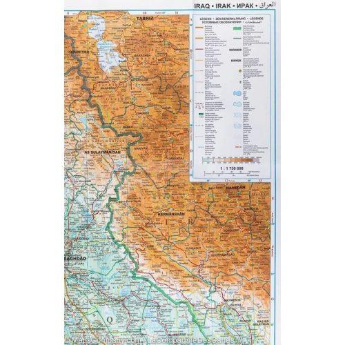 Iraq falitérkép Gizi Map 1:1 750 000
