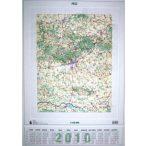 Pécs dombortérképe, Pécs falitérkép 1 : 150 000