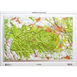 Soproni-hegység dombortérkép Magyar Honvédség 1:45 000 55x41 cm