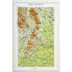Eperjes dombortérkép - Tokaji-hegység dombortérkép MH. 27 x 40 cm