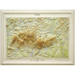 Mátra dombortérkép MH. 37 x 28 cm 1 : 150 000
