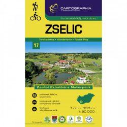 Zselic turistatérkép Cartographia 1:60 000  Zselic túratérkép