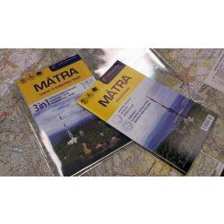 Mátra turistatérkép 3in1, Mátra térkép 3 in 1, Mátra túrakalauz túrázóknak és kerékpárosoknak