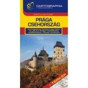 Prága - Csehország útikönyv  Cartographia 2018