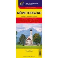 Németország autótérkép  Cartographia  1:850 000
