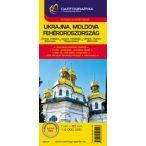 Ukrajna, Fehéroroszország, Moldova térkép Cartographia 1:2 000 000  2010