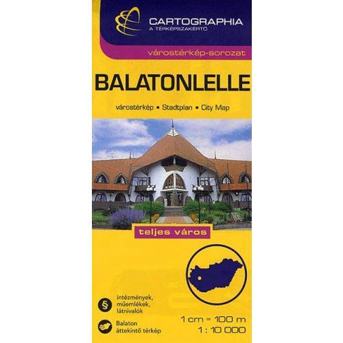 Balatonlelle Varosterkep 9789633526026 Magyar Varos Terkepek