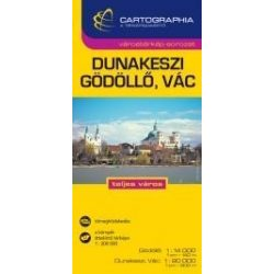 Dunakeszi térkép, Gödöllő térkép, Vác térkép 1:15 000 Cartographia 2014