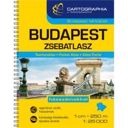 Budapest zsebatlasz Cartographia 1:25 000  Budapest zsebtérkép