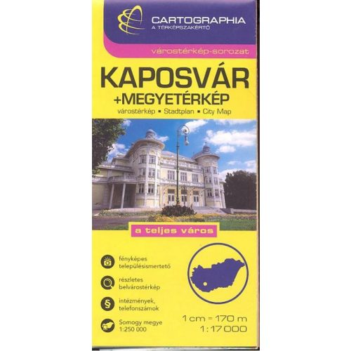 Kaposvar Varosterkep Es Somogy Megye Terkep Cartographia 1 17 000