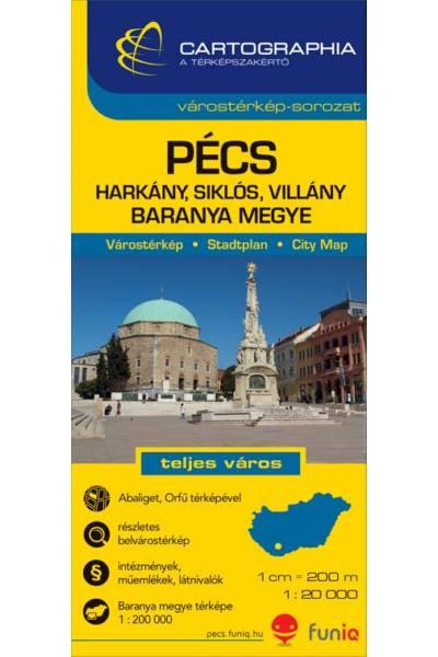 Pecs Terkep Cartographia 2014 1 20 000 9789633526897 Magyar